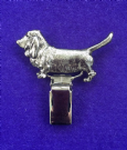 Dog Show Breed Ring Number Clip - Basset Hound - FULL BODY Silver or Gold Style